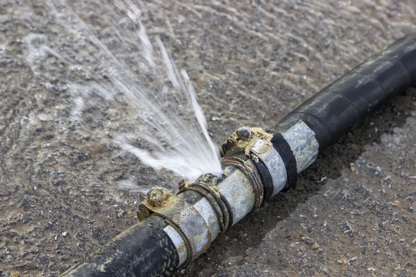 leaking pipe causing water damage